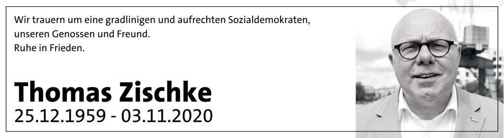 Wir trauern um Thomas Zischke.